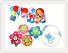 Fabric Flower Badges