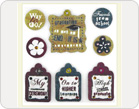 Fabric Stickers-TZ-SB0015